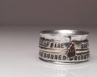 Full of fire Spiner Ring
