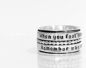 Ring, Inspiration Ring, Inspirational, Motivational Jewelry, Persisted, Nevertheless she, Quote Ring, Graduation Gift, Message Ring