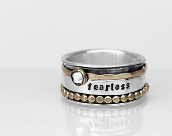 Fearless Spinner Ring