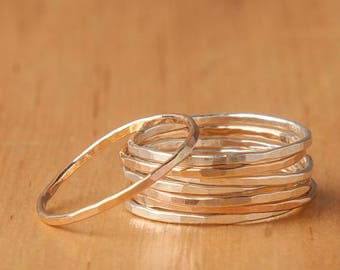 Gold Ring, Stackable Ring, Thin Ring, Sterling Silver Ring, Dainty Ring, Stacking Rings, Rings, Silver Ring, Thin Gold Ring, Stack Ring, r26