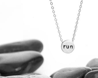 Run Charm Necklace