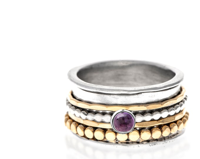 Featured listing image: Amethyst Spinner Ring