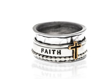 Faith Spinner Ring