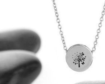 Circle of Seasons Charm Necklace, Recycled Sterling Silver