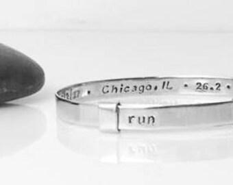 Chicago Marathon, Chicago, Marathon Bracelet, Marathon Jewelry, Marathon Gift, Marathon, Running, Gifts For Runners, Runner Gift, B252s