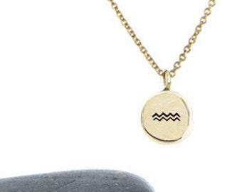 Aquarius Charm Necklace