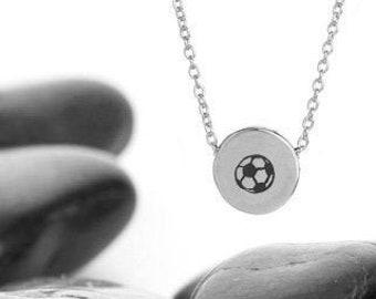 Sliding Soccer Ball Charm Necklace