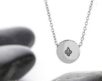 Fleur De Lis Sliding Charm Necklace