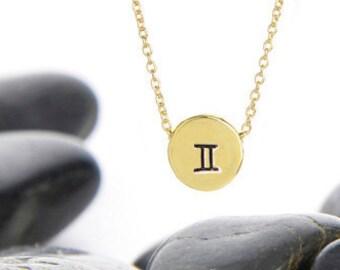 Zodiac Gifts, Zodiac Jewelry, Star Sign Gift, Zodiac, Zodiac Necklace, Gemini Jewelry, Gemini Necklace, Birthday Gift, Zodiac Art, n246sB