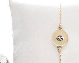 Lotus Flower, Lotus Bracelet, Yoga Bracelet, Flower Bracelet, Lotus, Yoga Jewelry, Lotus Flower Charm, Lotus Flower Jewelry