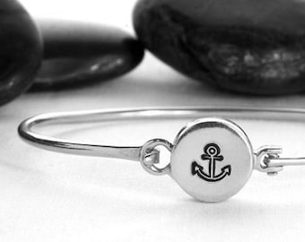 Anchor Bracelet, Nautical Bracelet, Silver Anchor, Anchor Jewelry, Nautical Jewelry, Anchor Charm, Nautical, Summer Jewelry,