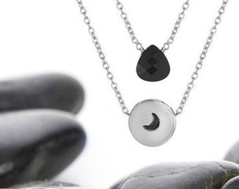 Moon Gifts, Moon, Moon Necklace, Moon Jewelry, Crescent Moon Gifts, Gift For Her, Moon Gift Idea, Moon Pendant, Silver Moon Necklace