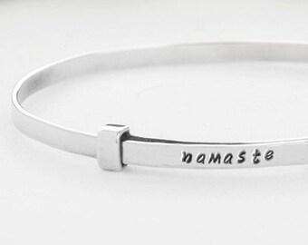 Namaste Bracelet, Namaste Jewelry, Yoga Gift, Namaste, Yoga, Yoga Jewelry, Yoga Bracelet, Namaste Gift, Yoga Gifts, Inspirational Gift, 252S