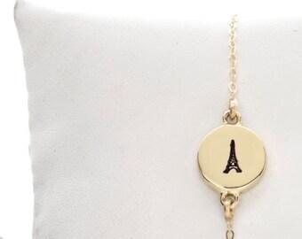 Eiffel Tower Charm Bracelet