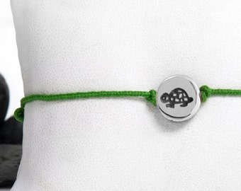 Turtle Friendship Bracelet in Aluminum