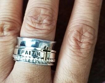 Faith Spinner Ring