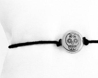 Day of the Dead, Skull Bracelet, Sugar Skull Jewelry, Dia De Los Muertos, Skull Jewelry, Bracelet, Sugar Skull, Charm Bracelet, Jewelry