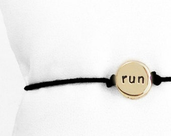 Tiny Run Bracelet in Brass