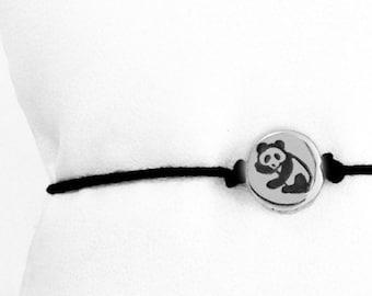 Panda Bear Friendship Bracelet in Sterling Silver