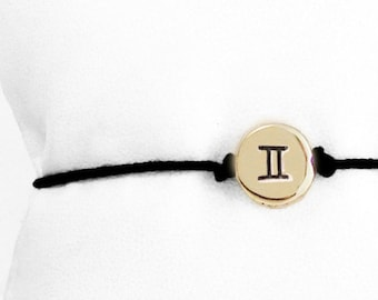 Tiny Zodiac Friendship Bracelet in Brass