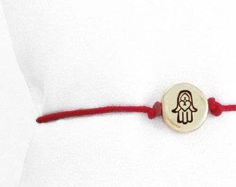 Tiny Hamsa Hand Friendship Bracelet