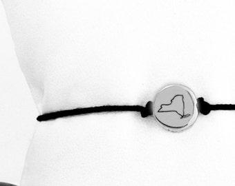 Tiny State Friendship Bracelet in Aluminum