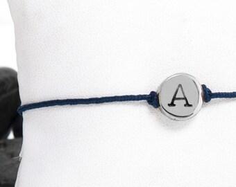 Tiny Initial Friendship Bracelet in Aluminum