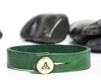 Celtic Knot Leather Bracelet