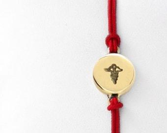 Caduceus Friendship Bracelet