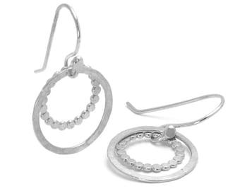Hammered Circle Earrings