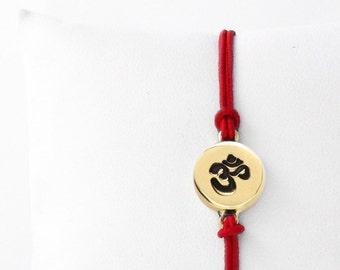 Yoga Bracelet, Yoga Jewelry, OM charm, OM, Bracelet, Yoga, Ohm Bracelet, Cord Bracelet, Charm Bracelet, Meditation, Gift For Her