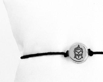 Small Buddha Face friendship bracelet