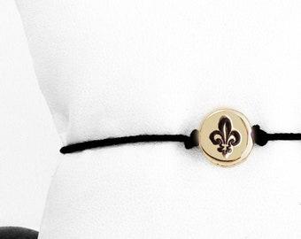 small Fleur De Lis friendship bracelet