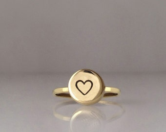 Love Ring, Personalized Ring, Gold Heart Ring, Ring, Heart Jewelry, Heart, Love, Love Jewelry, Heart Shape Ring, Valentine Day Ring