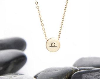 Tiny Zodiac Sliding Charm Necklace