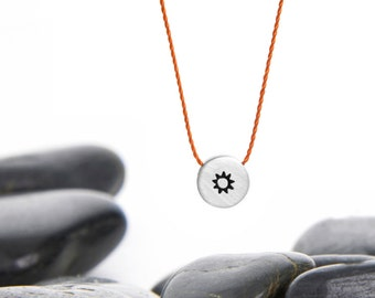 Tiny Sliding Charm Necklace in Aluminum