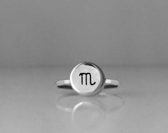 Zodiac Ring, Scorpio, Horoscope Ring, Scorpio Jewelry, Zodiac Jewelry, Ring, Zodiac, Astrology, Horoscope, Astrology Ring, Silver Ring