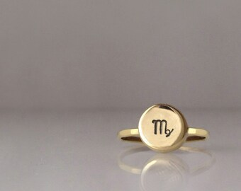 Tiny Zodiac Charm Ring