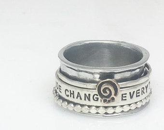 Gratitude Spinner Ring