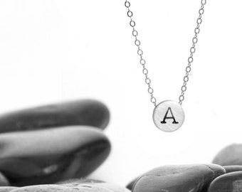 Tiny Initial Sliding Charm Necklace