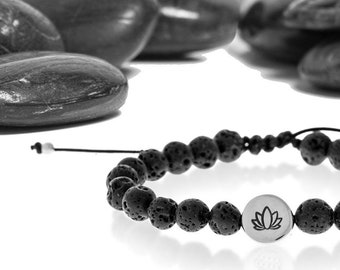 Essential Oil Diffuser Bracelet in Recycled Sterling Silver