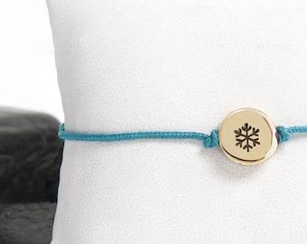 Tiny Snowflake Friendship Bracelet