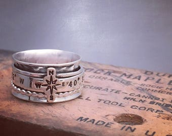 Latitude and Longitude Spinner Ring