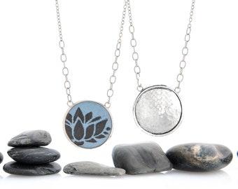 Blooming Lotus Enamel Statement Necklace