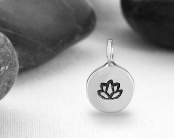 Third Inch Lotus Flower Charm