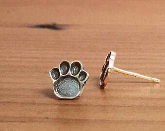 Dog Paw Earrings, Pet Lover Gift, Animal Lover, Paw Print Earrings, Paw Print Studs, Paw Stud Earrings, Paw Earrings, Dog Lover Gift