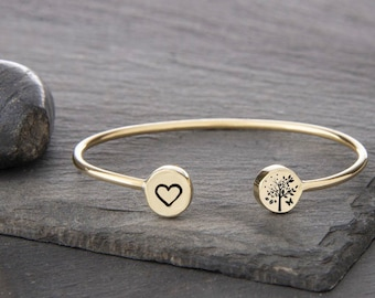 Circle of Seasons Small Double Charm Cuff