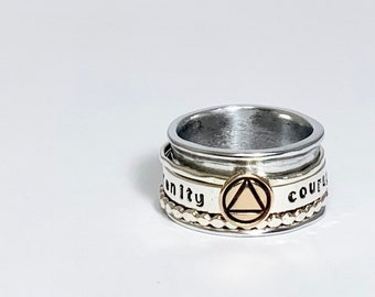 Sobriety Spinner Ring
