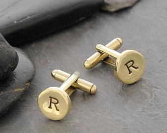 Monogram Cufflinks, Custom Cufflinks, Wedding Cufflinks, Initials Cufflinks, Personalized, Cuff Links, Cufflinks, Engraved Cufflinks, C246BR