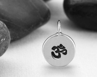 OM Necklace, Yoga Jewelry, OM, Yoga, Pendant, OM Charm, Ohm Necklace, Ohm Pendant, Om Symbol, Yoga Pendant, Ohm, Spiritual Jewelry
